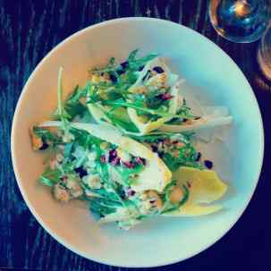 Chicory Salad, Candied Walnuts, Cranberries, Blue Cheese